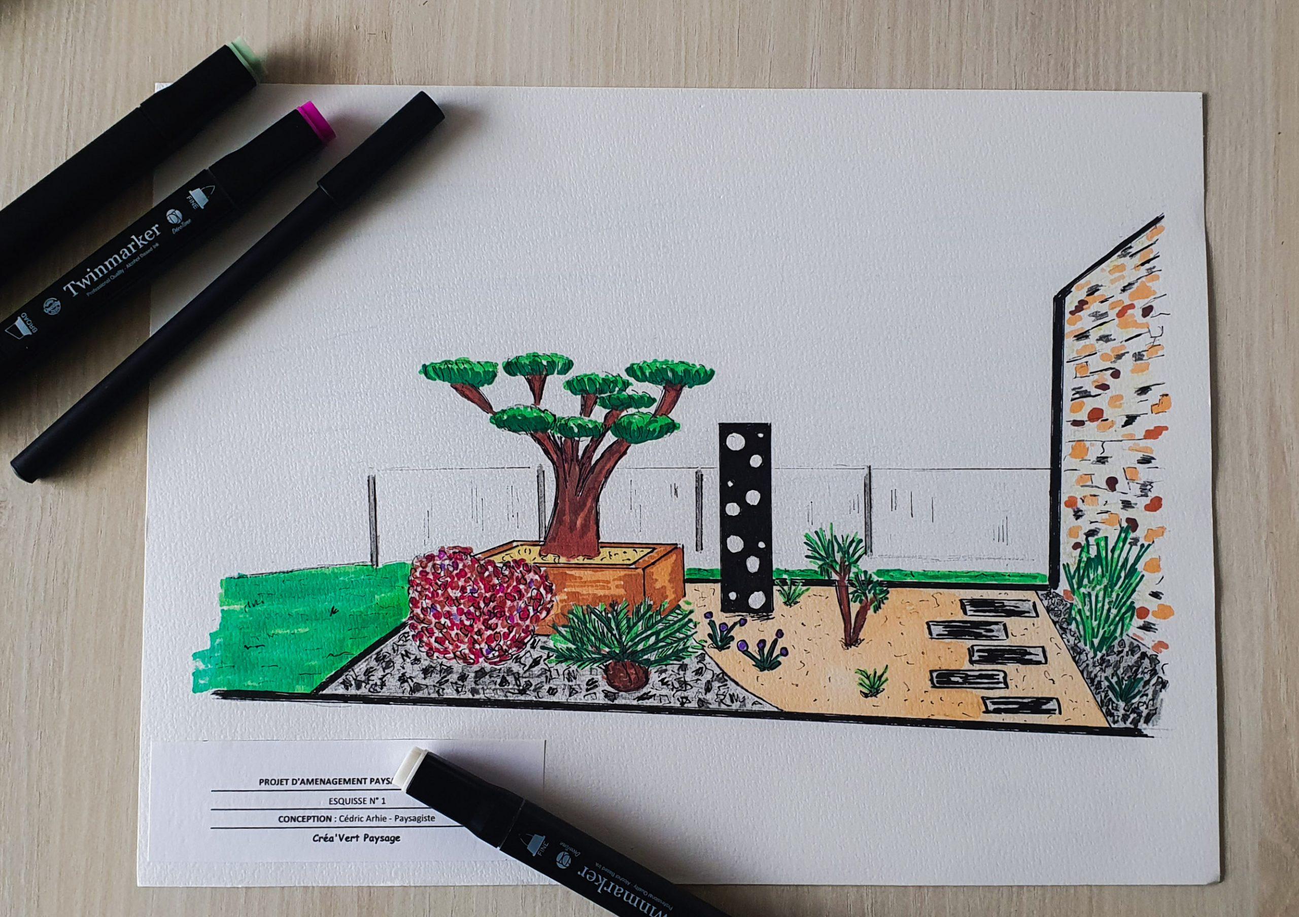 conception jardin Pau 64