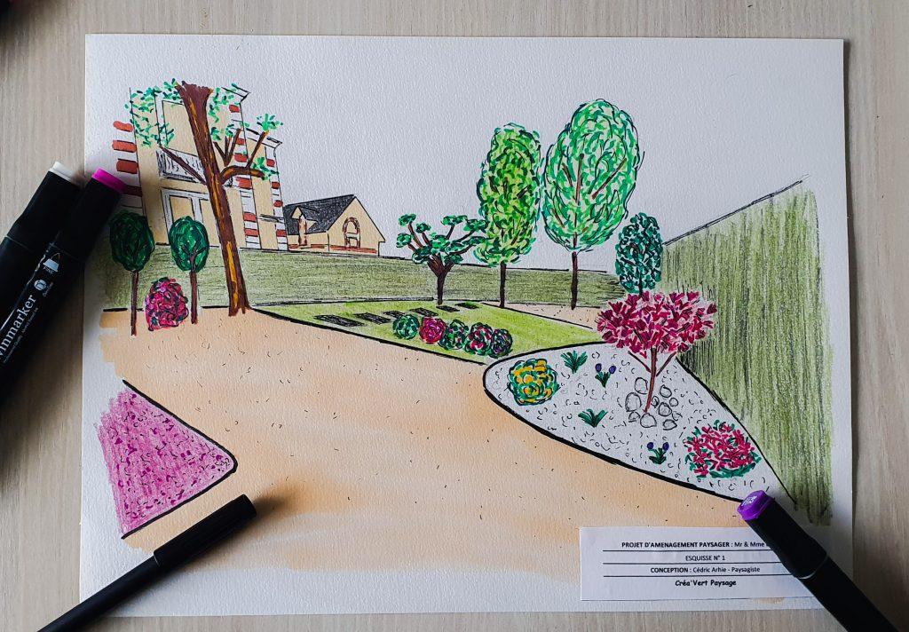 Création aménagement jardin béarn